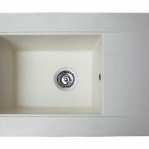 Кухонная мойка BODRUM 650 матовая белая