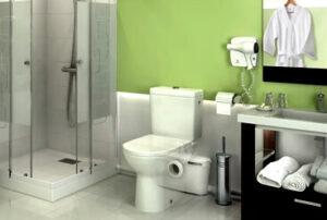 Насосы для переноса туалета и всей ванной комнаты